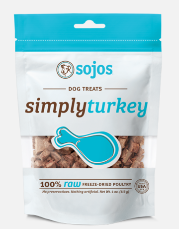 Sojos Pet Food Canine Simply Turkey Treats