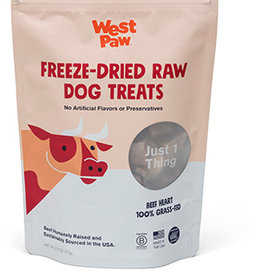 West Paw Dog Freeze-Dried Beef Heart Treats - 2.5oz