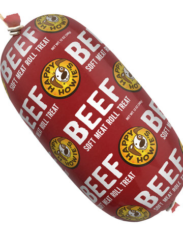 Happy Howie's All Natural Dog Treats Beef Meat Roll Treat - 12oz