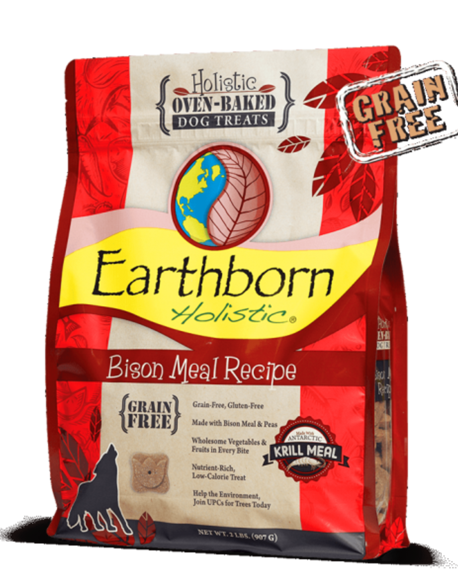 Earthborn Holistic Biscuit Bison Meal - 2lb