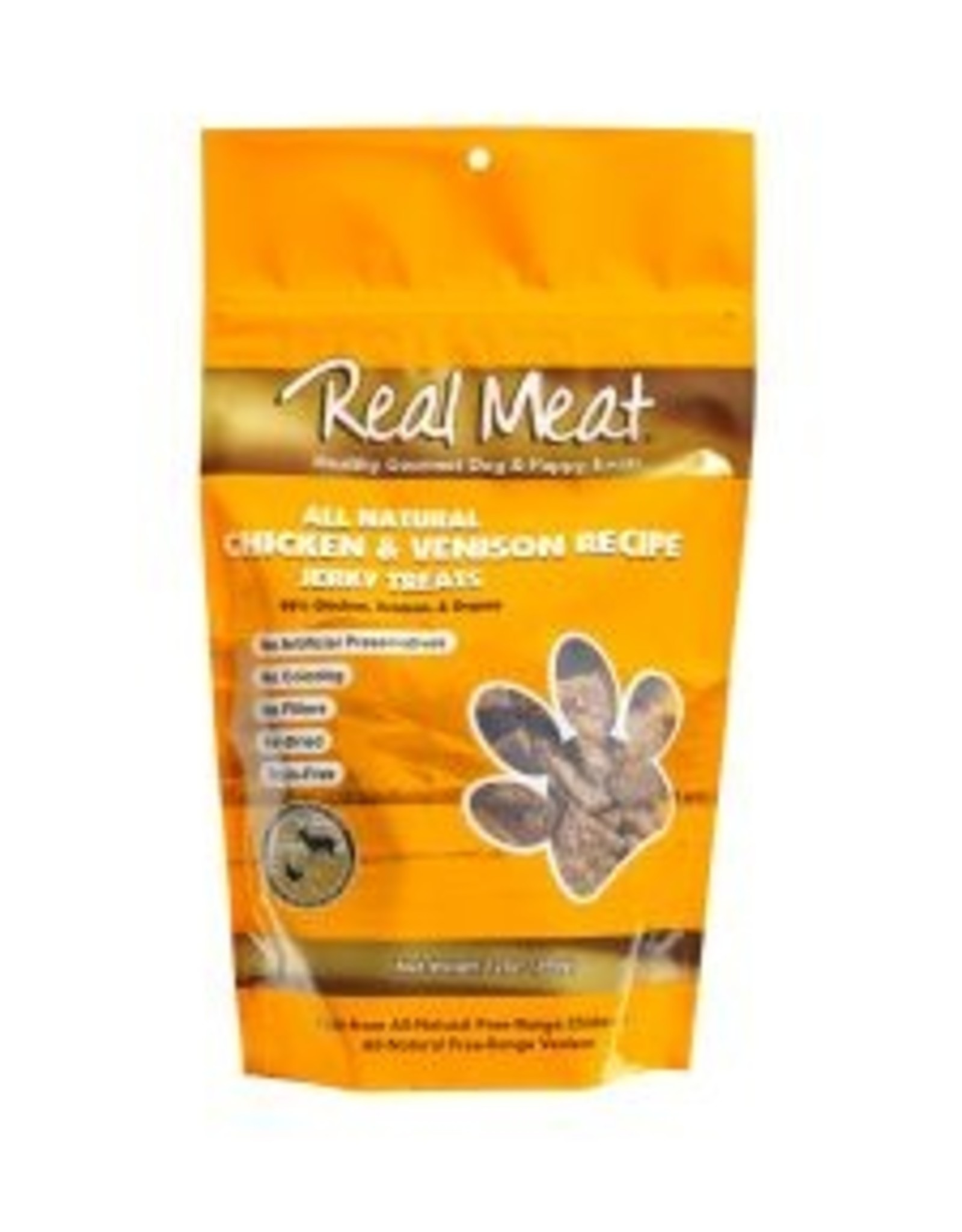 Real Meat Dog Chicken & Venison Treats - 12oz