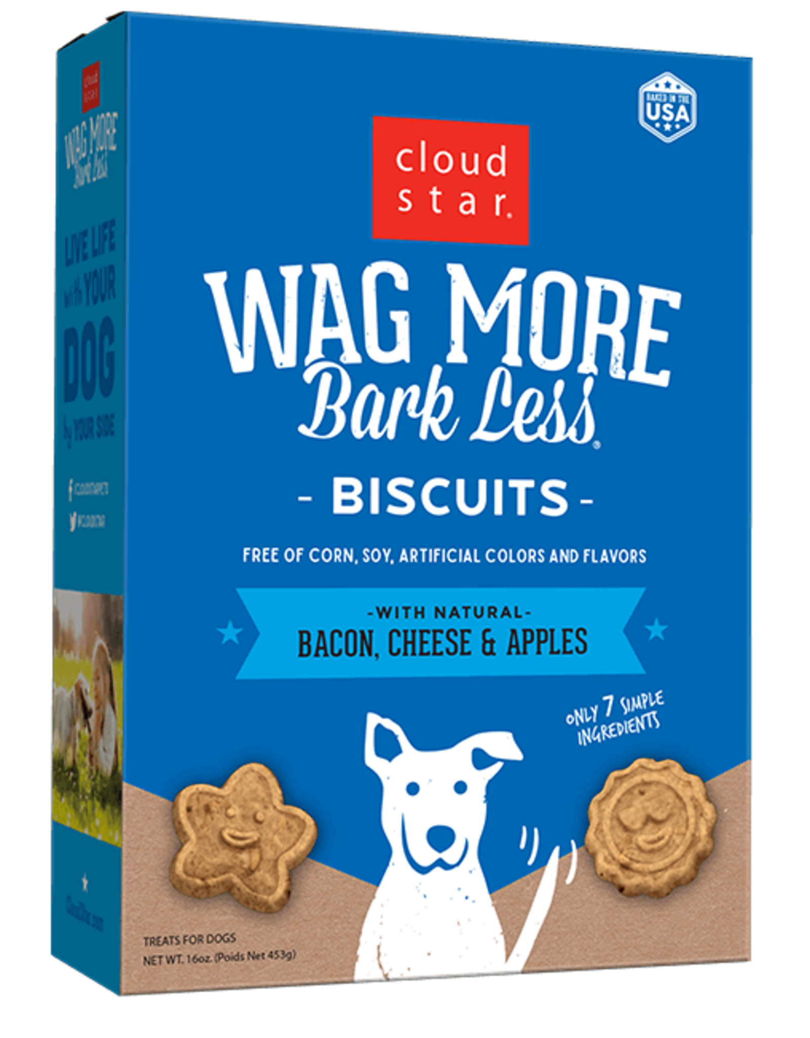 Cloud Star Wag More Bacon Biscuit - 16oz