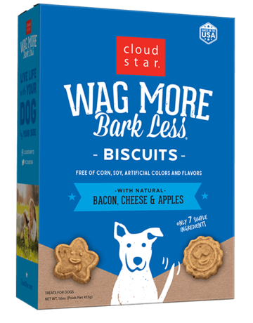 Cloud Star Canine Wag More Bacon Biscuit