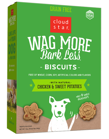 Cloud Star Canine Wag More Grain-Free Chicken Biscuit