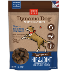 Cloud Star Dynamo Dog Hip & Joint Bacon - 5oz