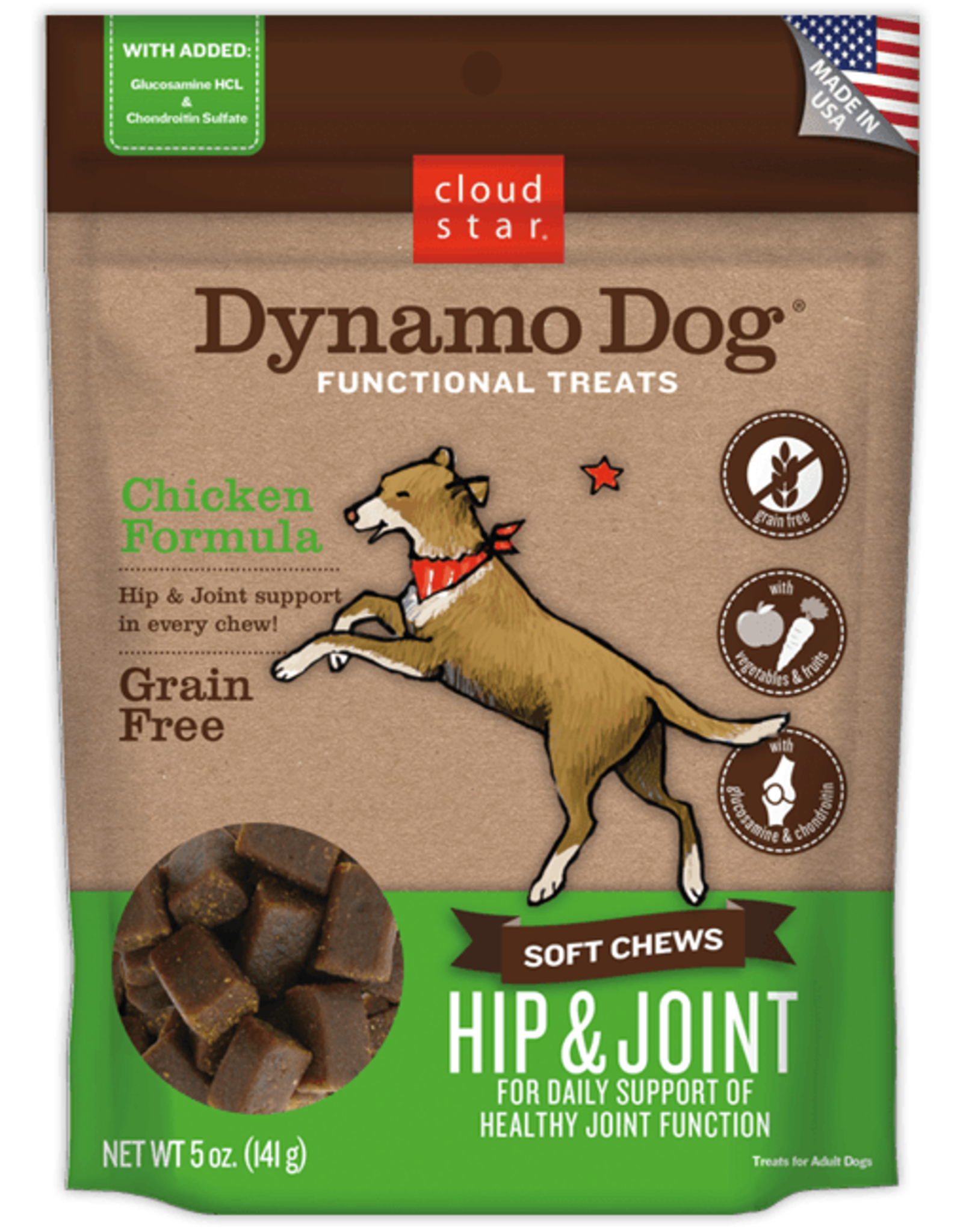 Cloud Star Dynamo Dog Hip & Joint Chicken - 14oz