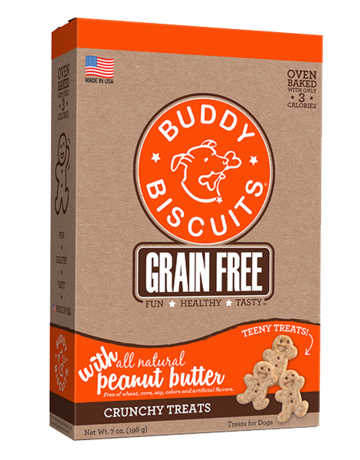 Buddy Biscuits Canine Teeny Treats Grain-Free Peanut Butter
