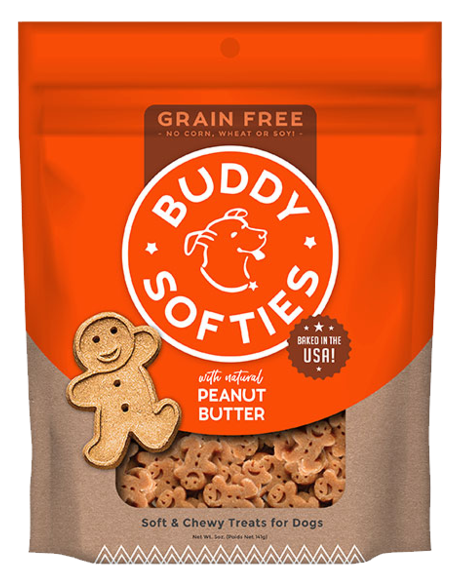 Buddy Biscuits Grain-Free Peanut Butter Softies - 5oz
