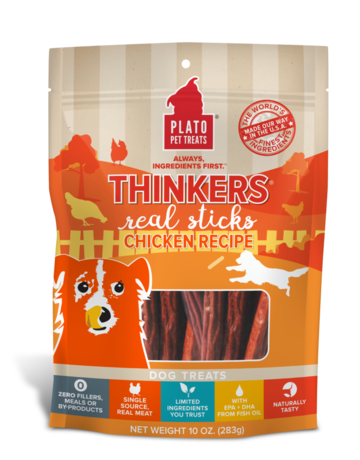 Plato Pet Treats Thinkers Chicken - 18oz