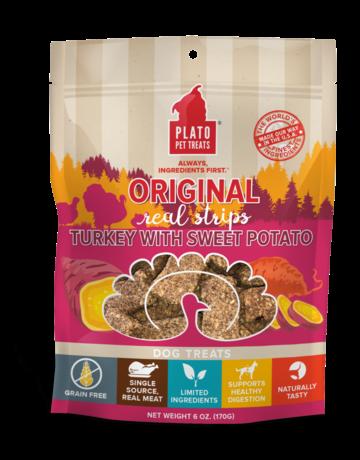 Plato Pet Treats Turkey & Sweet Potato Strips - 18oz