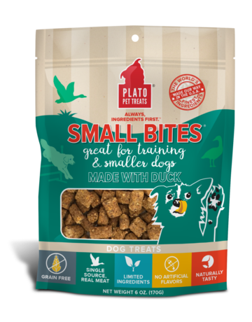Plato Pet Treats Small Bites Duck - 6oz