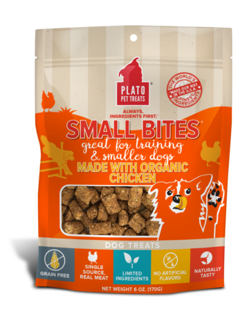 Plato Pet Treats Small Bites Chicken - 6oz