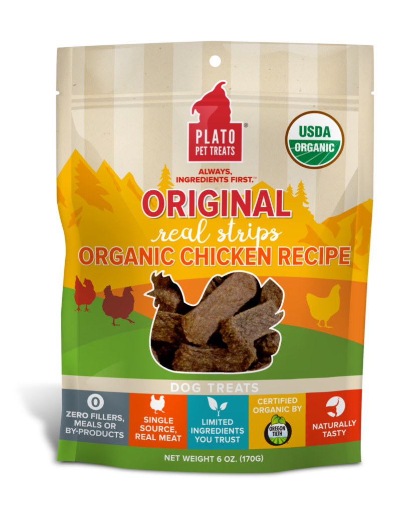 Plato Pet Treats Canine Chicken Strips