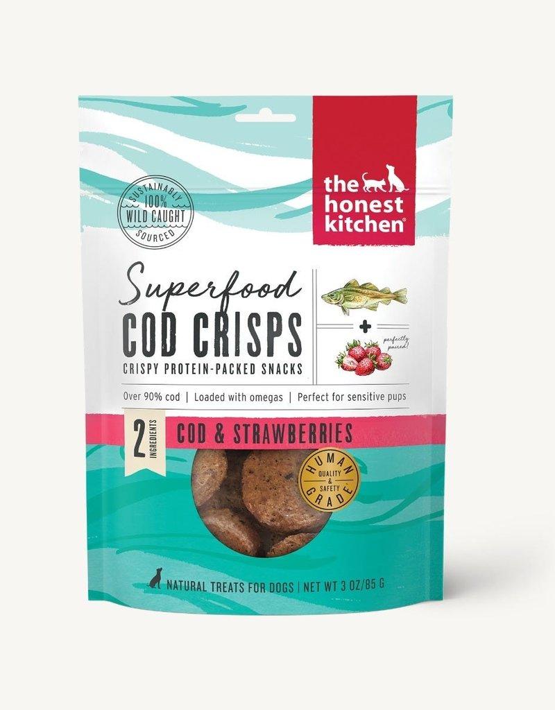 The Honest Kitchen Canine Cod & Strawberry Crisps