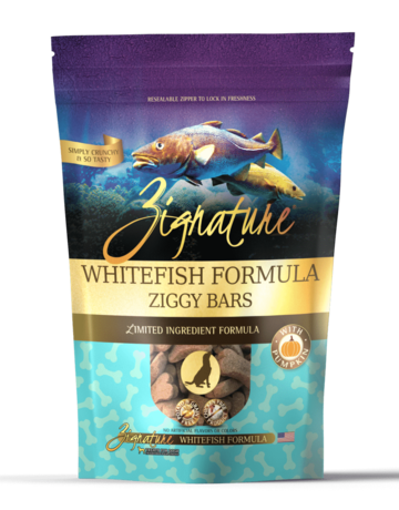 Zignature Canine Ziggy Bar Whitefish Formula