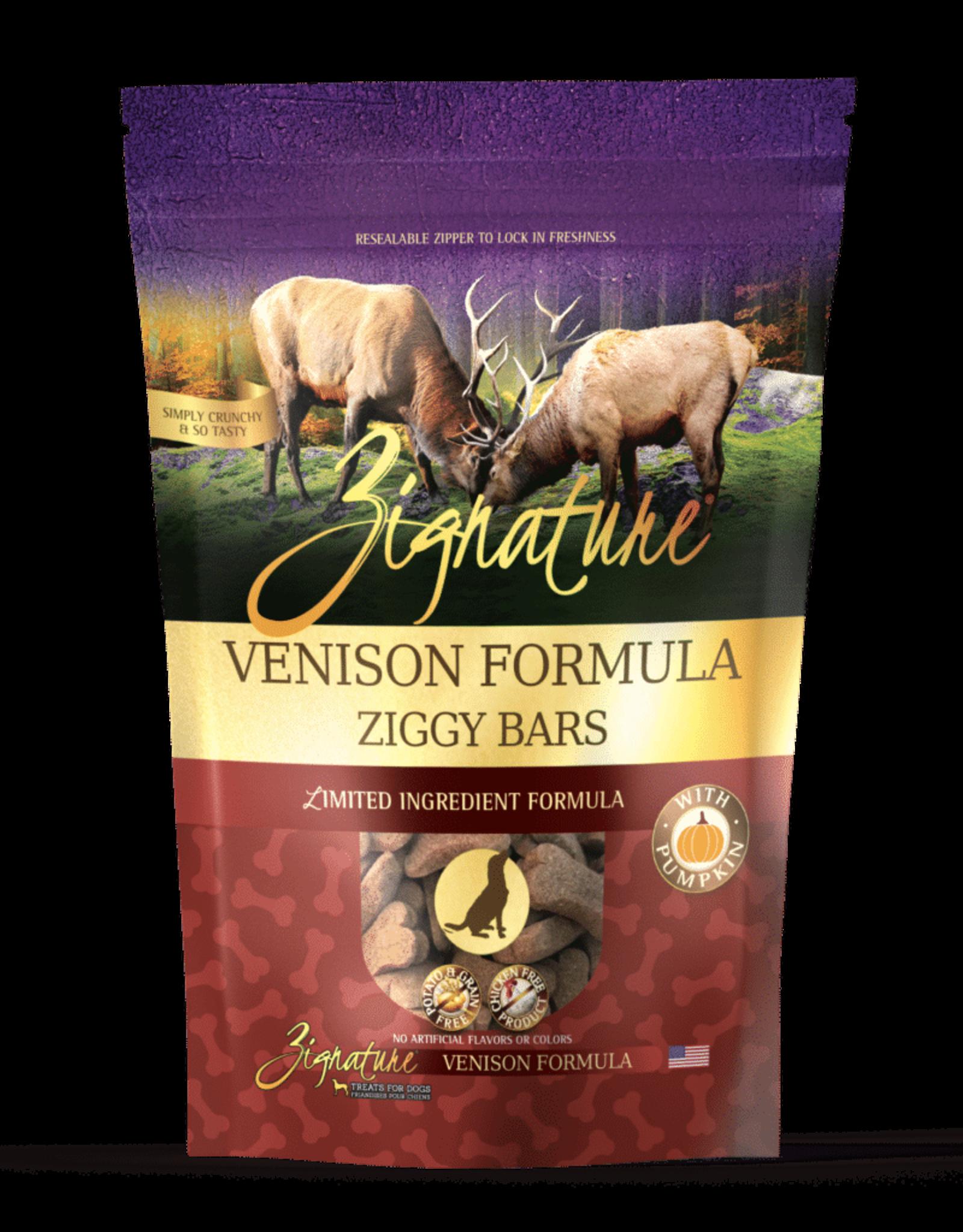 Zignature Ziggy Bar Venison Formula - 12oz