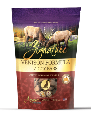 Zignature Canine Ziggy Bar Venison Formula