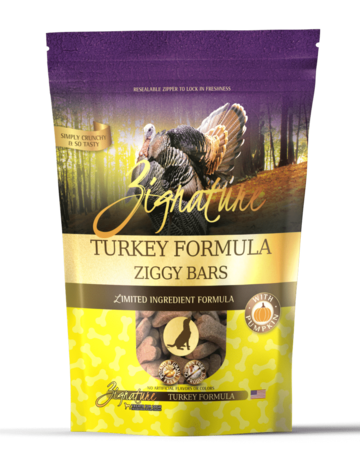 Zignature Canine Ziggy Bar Turkey Formula