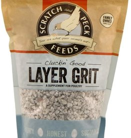 Scratch and Peck Feeds Cluckin' Good Layer Grit - 7lbs