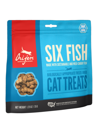 Orijen Cat Freeze-Dried Six Fish Treats - 1.25oz
