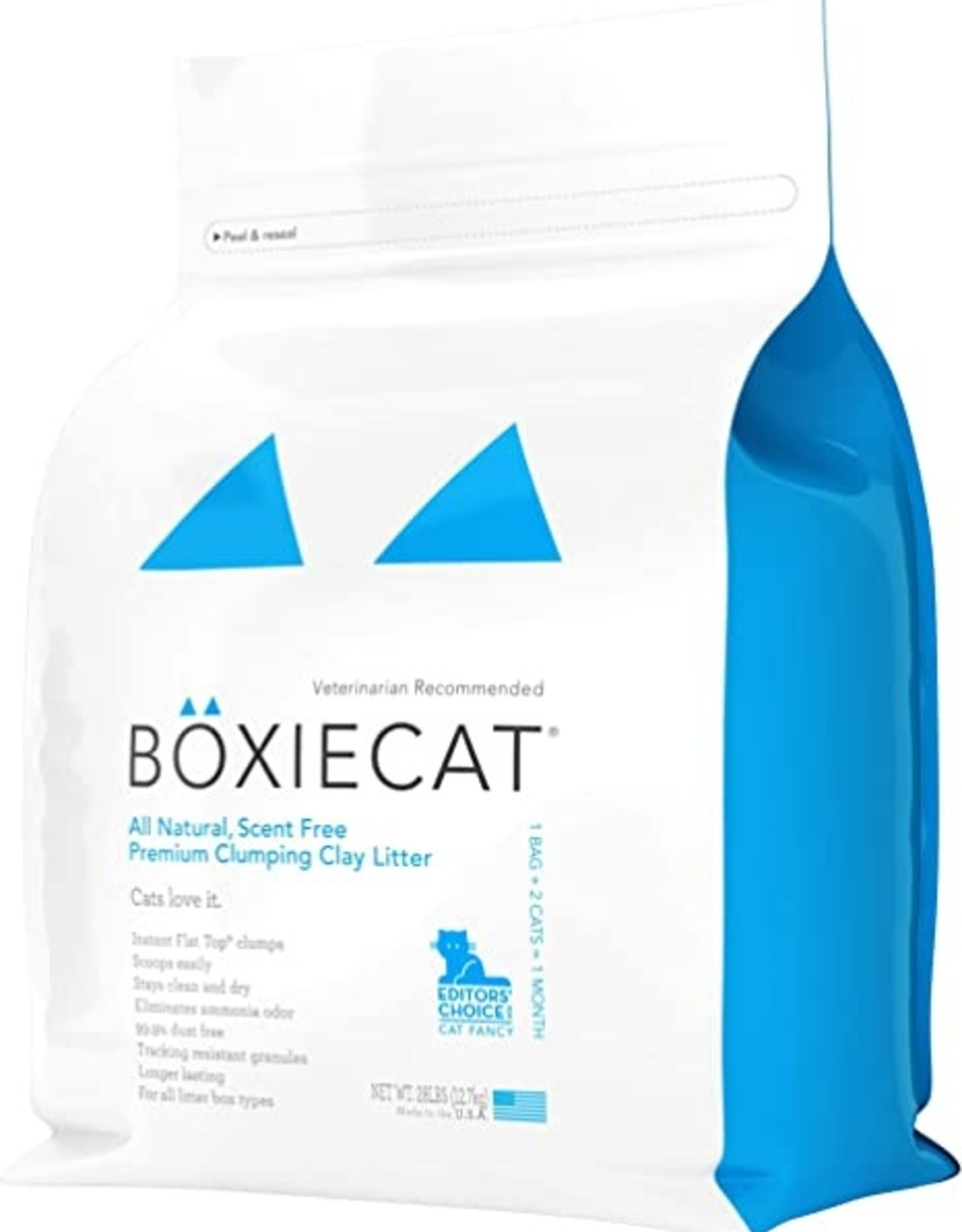Boxie Cat Scent-free Premium Clumping Clay Cat Litter - 28lb
