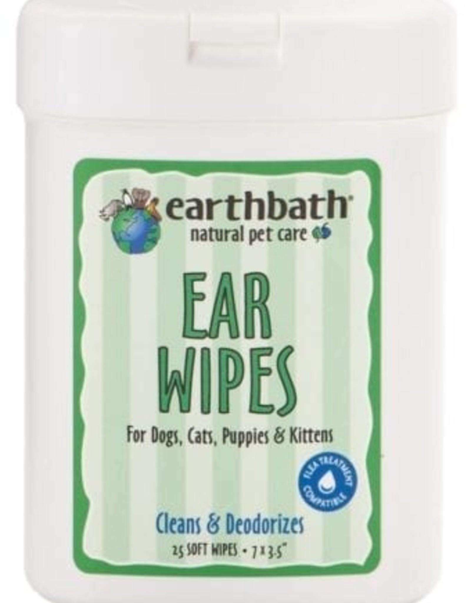 earthbath Ear Wipes - 25ct