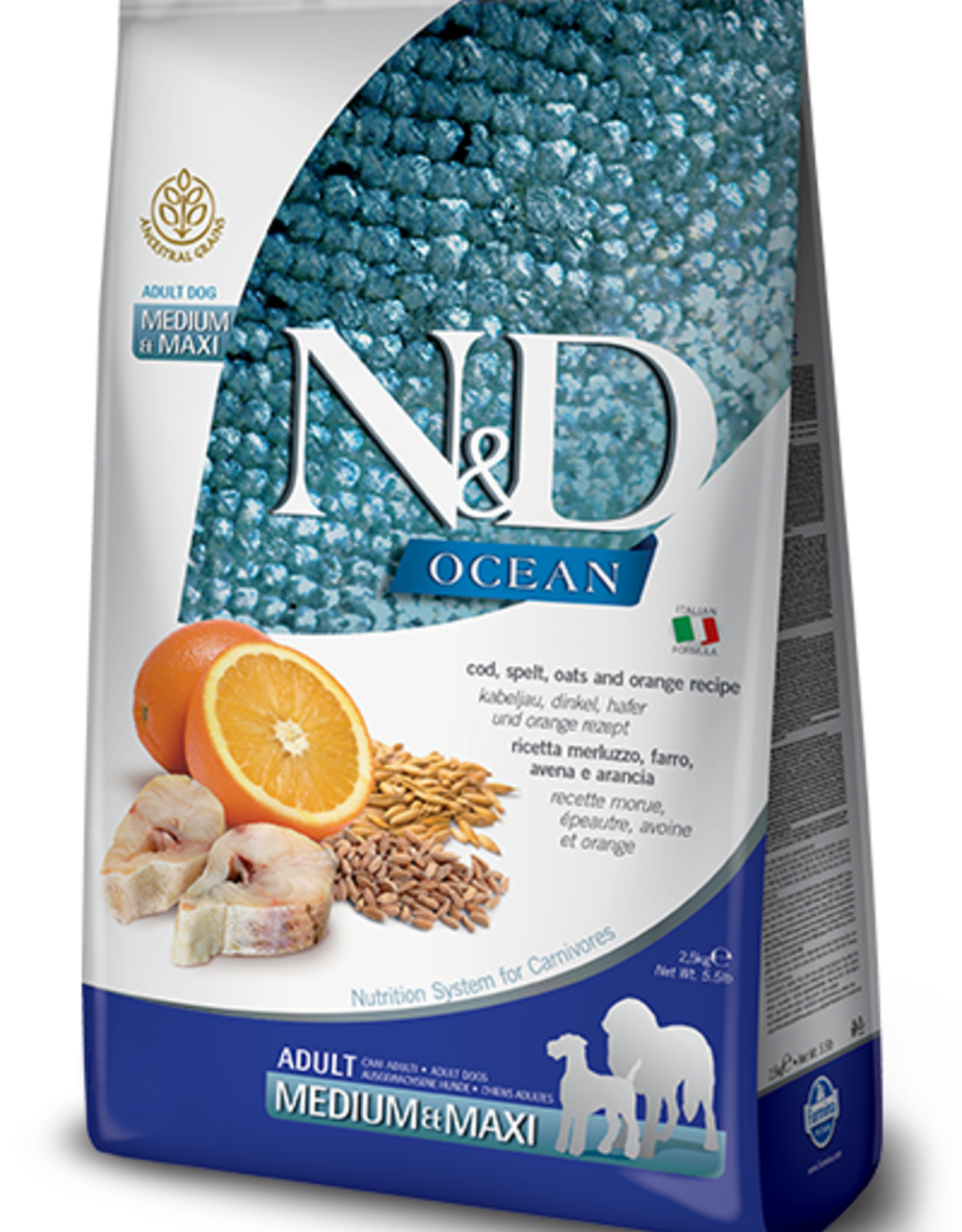 Farmina Dog N&D Grain - Cod & Orange 26lb