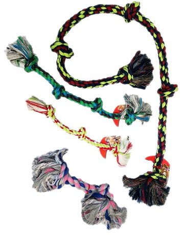 Mammoth Pet Products Assorted Flossy Chew Rope Toys