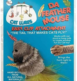 Go Cat Da Feather Mouse - Refill (Assorted Colors)