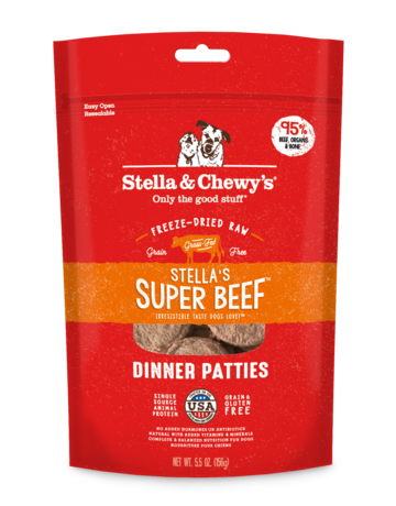 Stella & Chewy's Canine Stella's Super Beef Freeze-Dried Raw Dinner