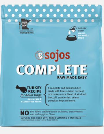 Sojos Pet Food Canine Grain-Free Freeze-Dried Turkey Recipe