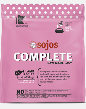 Sojos Pet Food Canine Grain-Free Freeze-Dried Lamb Recipe