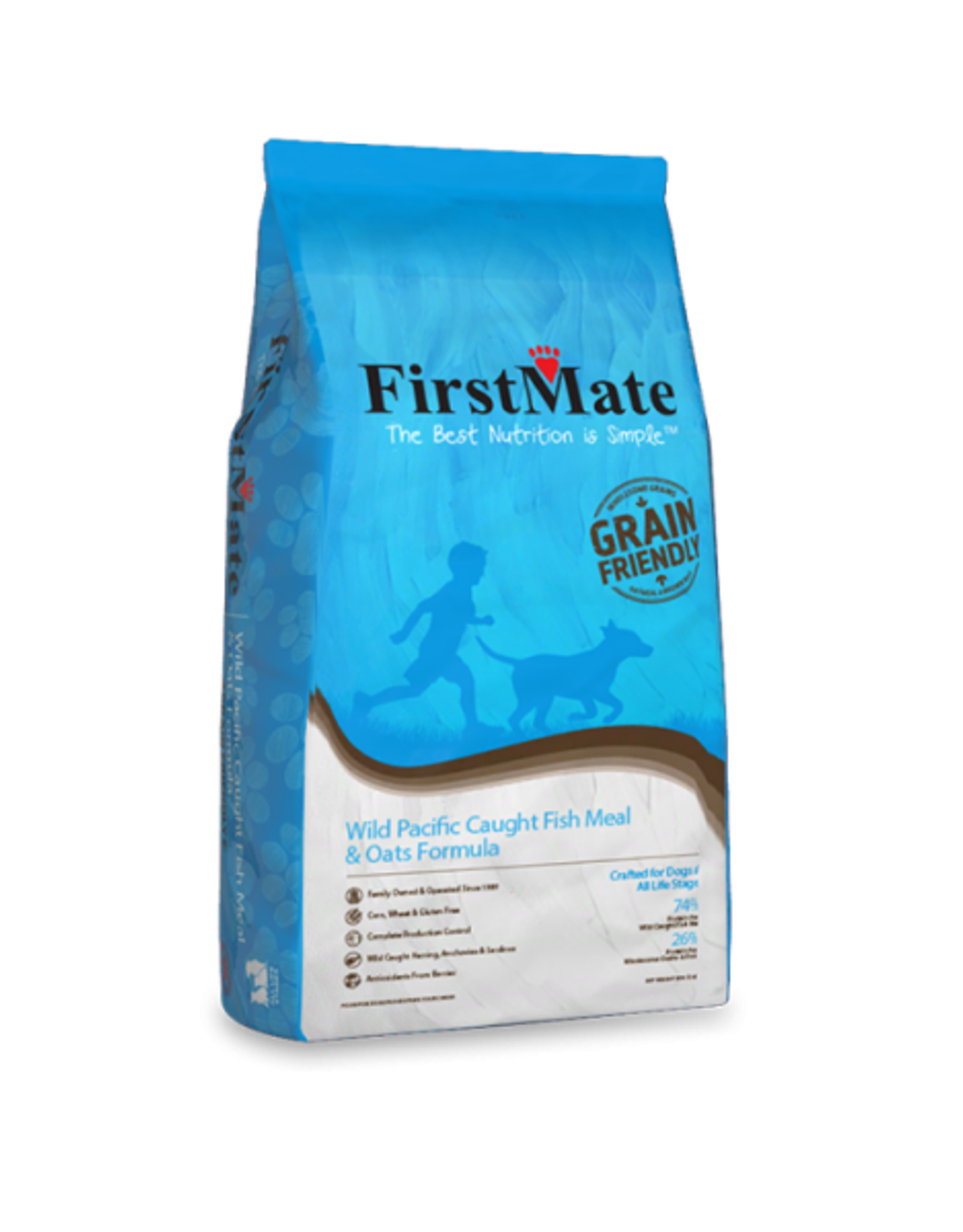 FirstMate Pet Food Wild Pacific Caught Fish & Oats Recipe