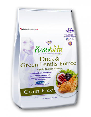 PureVita Canine Grain-Free Duck & Green Lentils Entree