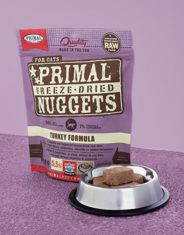 Primal Pet Foods Feline Freeze-Dried Turkey Nuggets