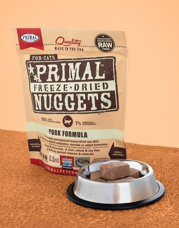 Primal Pet Foods Feline Freeze-Dried Pork Nuggets