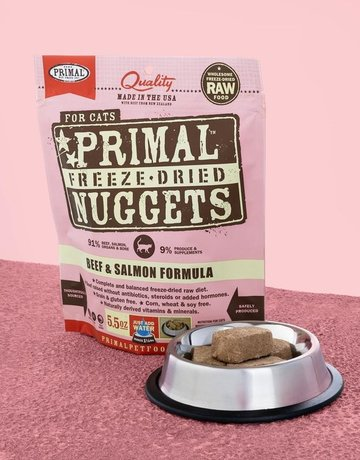 Primal Pet Foods Feline Freeze-Dried Beef & Salmon Nuggets