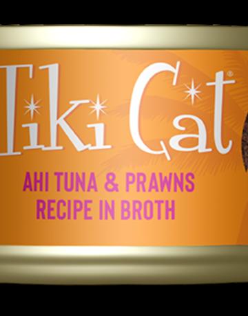 Tiki Pets Feline Grain-Free Ahi Tuna w/Prawns in Tuna Consomme