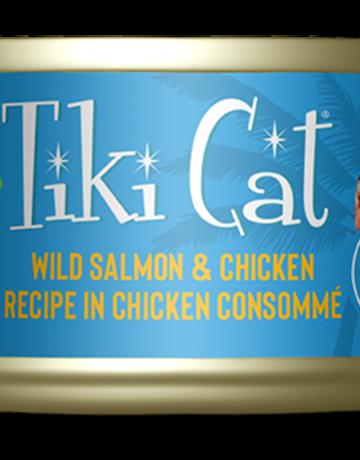 Tiki Pets Feline Grain-Free Salmon & Chicken in Chicken Consomme