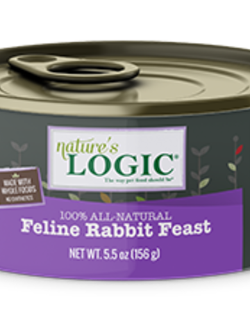 Natures Logic Feline Grain-Free Rabbit Feast