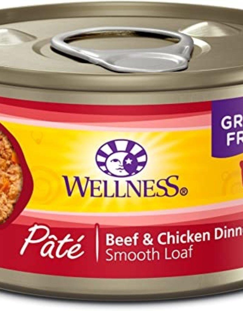 Wellness Pet Food Feline Grain-Free Beef & Chicken Dinner