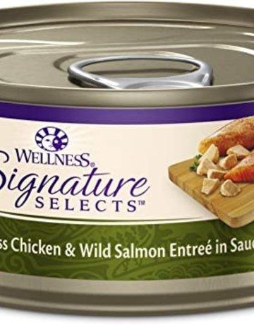 Wellness Pet Food Feline Grain-Free Signature Selects Chicken & Salmon