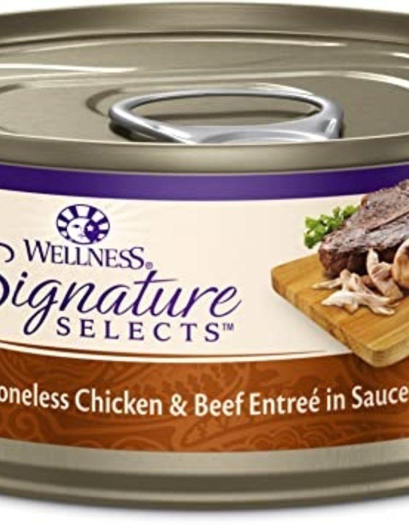 Wellness Pet Food Feline Grain-Free Signature Selects Chicken & Beef