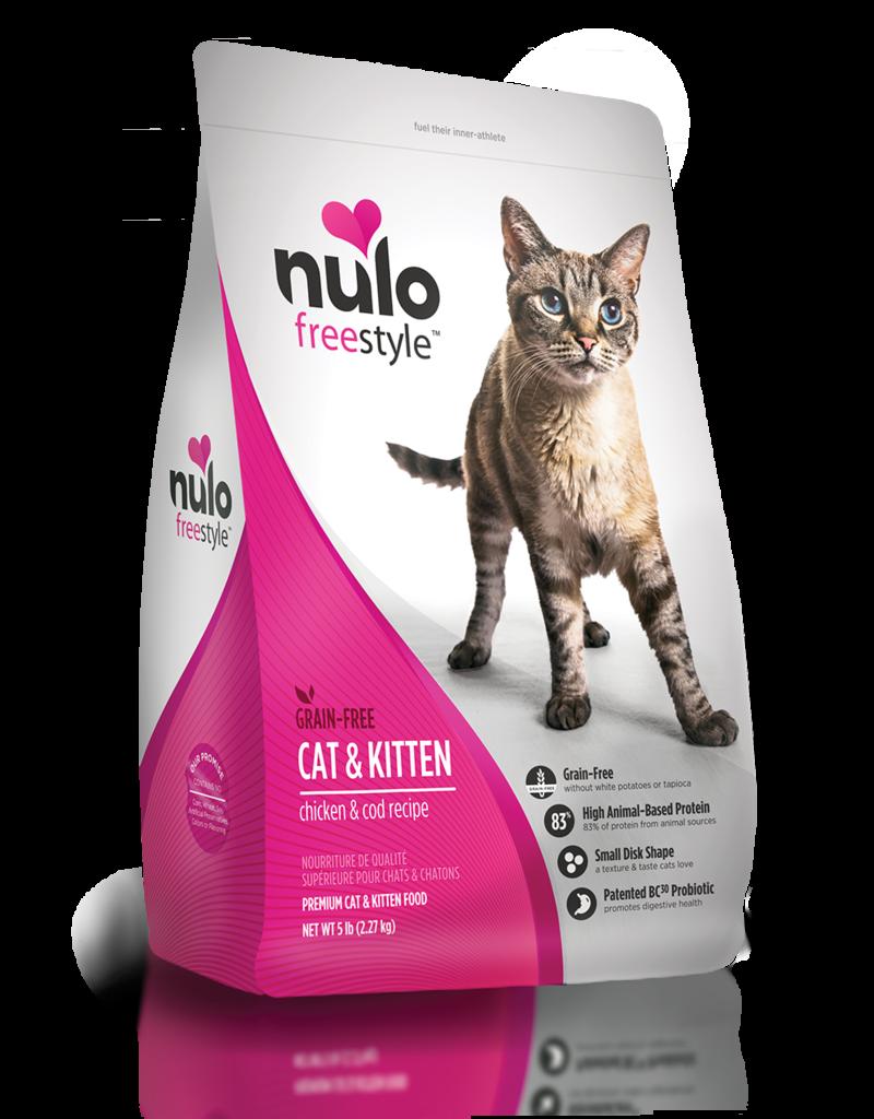 Nulo Feline Grain-Free Freestyle Cat & Kitten - Chicken & Cod Recipe