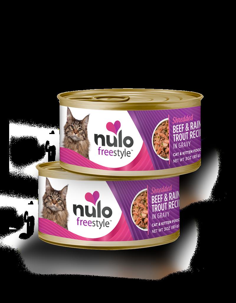 Nulo Feline Grain-Free Freestyle Shredded Beef & Trout Recipe