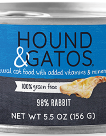 Hound & Gatos Feline Grain-Free 98% Rabbit