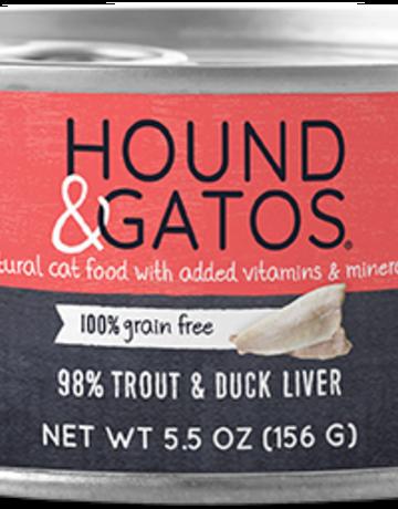 Hound & Gatos Feline Grain-Free 98% Trout & Duck Liver