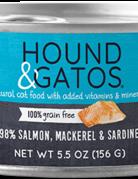 Hound & Gatos Feline Grain-Free 98% Salmon, Mackerel, & Sardine