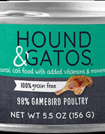 Hound & Gatos Feline Grain-Free 98% Gamebird Poultry