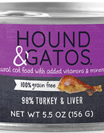 Hound & Gatos Feline Grain-Free 98% Turkey & Liver